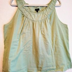 Talbots Light Green 18W 100% Cotton Sleeveless Top